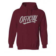 Mikina Official 1D REFLECTIVE HOODIE BURGUNDY