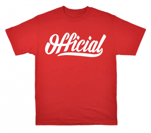 Triko Official SKATE TEE RED