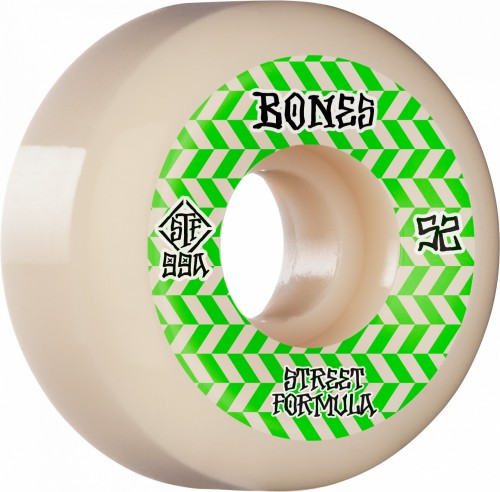 BONES WHEELS STF Patterns Skateboard Wheels V5 52mm 99a 4pk