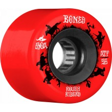 BONES ATF Rough Riders Wranglers 56mm Skateboard Wheel 4pk Red