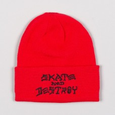 Kulich Thrasher Skate and Destroy Emb. Red