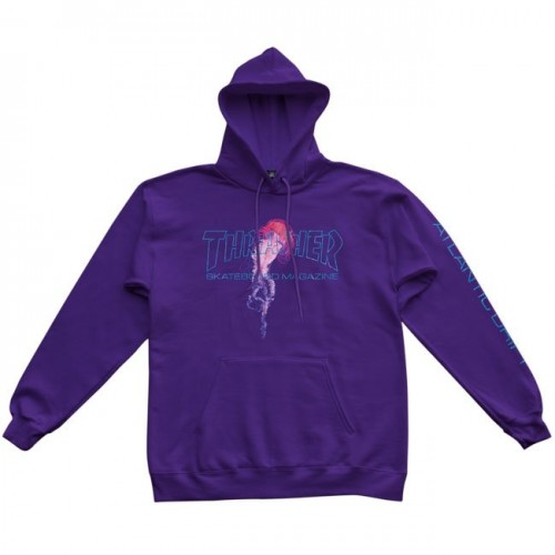 Mikina Thrasher x Atlantic Drift Hood Purple