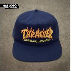 Kšiltovka Thrasher Fire logo navy