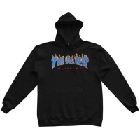 Mikina Thrasher Flame Black/Blue