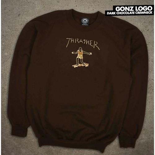 Thrasher Crewneck Gonz Dark Choco Spring 21