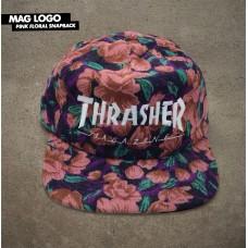 Kšiltovka Thrasher Mag logo FLORAL