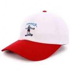 Kšiltovka GONZ OLD TIMER HAT White/Red