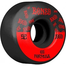 Kolečka BONES Wheels 100´s 52MM OG V4 WIDE Black 2020