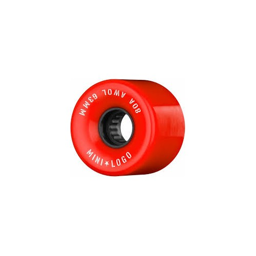 Kolečka Mini Logo A.W.O.L. Skateboard Wheels 63mm 80A RED