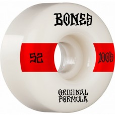 Kolečka BONES 100's V4 Wide White 52mm SP21