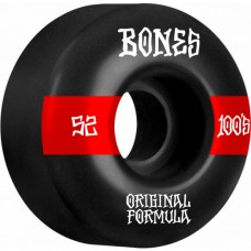 Kolečka BONES 100's V4 Wide Black 52mm SP21