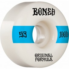 Kolečka BONES 100's V4 Wide White 53mm SP21