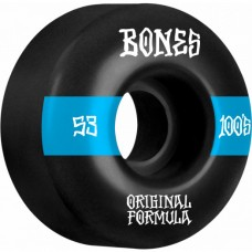 Kolečka BONES 100's V4 Wide Black 53mm SP21