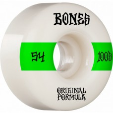 Kolečka BONES 100's V4 Wide White 54mm SP21