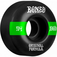 Kolečka BONES 100's V4 Wide Black 54mm SP21
