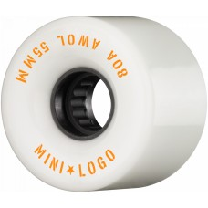 Kolečka Mini Logo A.W.O.L. Skateboard Wheels 55mm 80A White 4pk