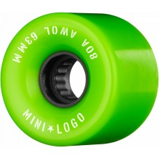 Kolečka Mini Logo A.W.O.L. Skateboard Wheels 63mm 80A Green 4pk