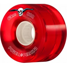 Kolečka Powell Peralta H2 CLEAR CRUISER 63MM 80A RED 4PK