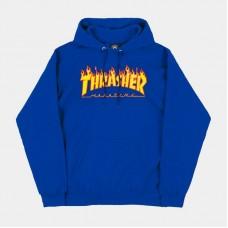 Mikina Thrasher Flame hood Royal Blue