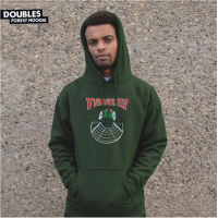 Mikina Thrasher BTS 19 Doubles Hood Forest Green