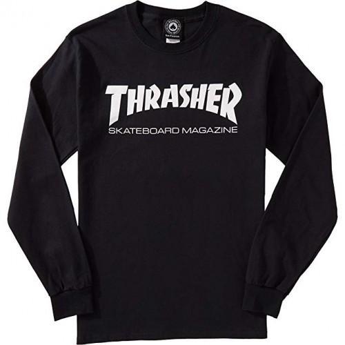 Triko s dlouhým rukávem Thrasher Skate Mag L/S black