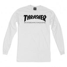 Triko s dlouhým rukávem Thrasher Skate Mag L/S white