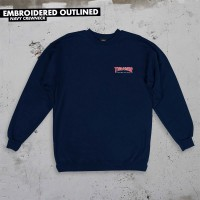 Crewneck Thrasher EMBROIDERED OUTLINED Navy Spring 2019