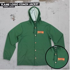 "Thrasher bunda Flame Logo Coach Forest Green ""May at once"""