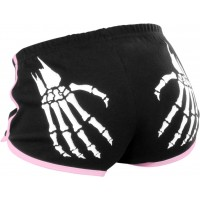 Rollerbones Woman's Booty Shorts Black/Pink