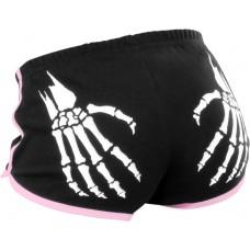 Rollerbones Woman's Booty Shorts Black/Pink