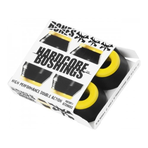 Bushings Bones Medium yellow/black (4 ks)